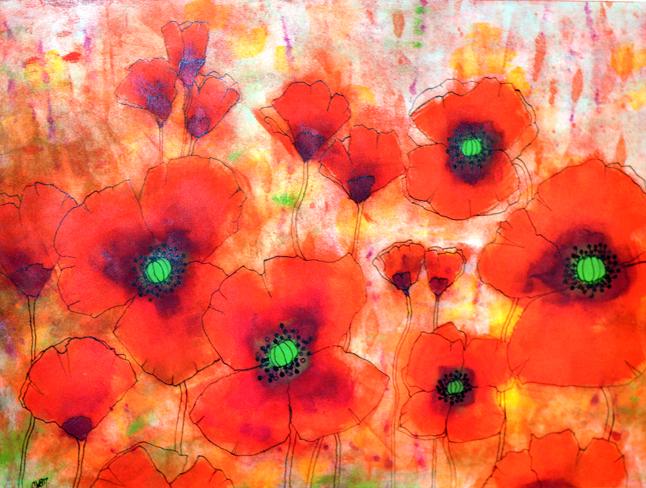 Bed of Poppies By Cherie Van Overbeke
