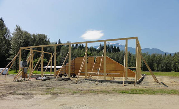 The arena started to go up in earnest over the weekend. Tanya Secpord photo
