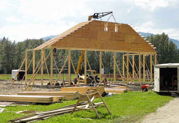 Here's another view of the construction. Tanya Secord photo