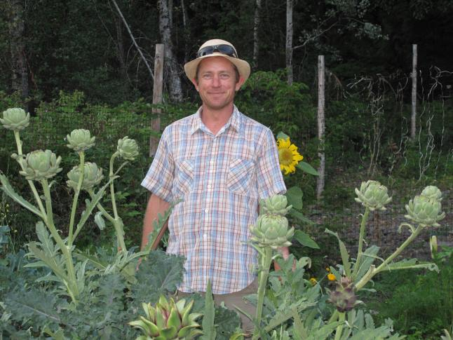 Artichokes anyone?  Stu Smith and his partner Sarah Harper have a garden that must be seen to be believed. Laura Stovel photo