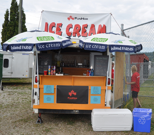 his is the first year the FunHog ice cream guys have come from Salmon Arm. They've heard this is a great weekend event and hopes it proves to be such. David F. Rooney photo