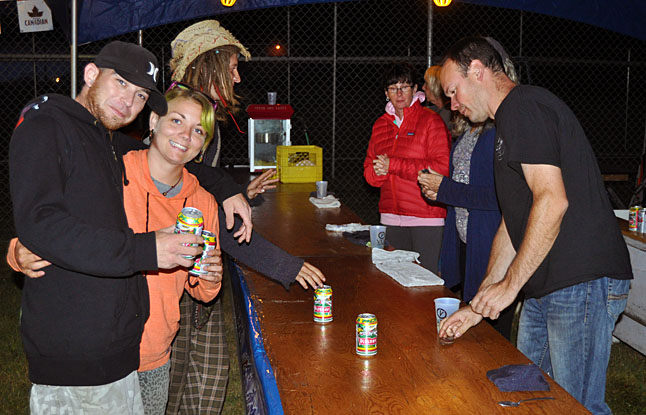 The Rotary Club Beer Garden is the Tournament's excellent official watering hole. David F. Rooney photo