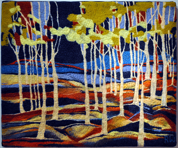 Birch and Strata By Robin Wiltse Needle and Hand-felted Wool