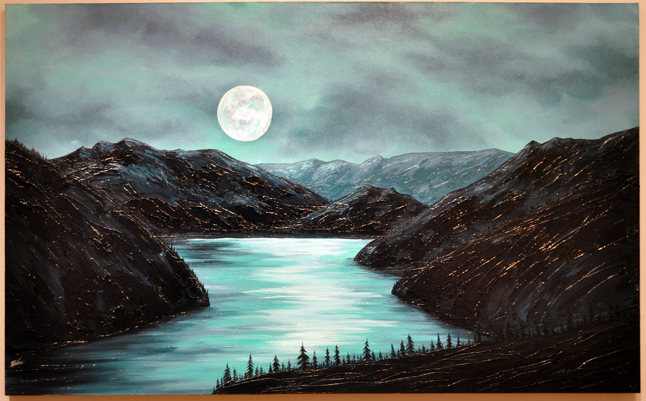 The Perfect Evening By Keisha Treber Acrylic on Canvas