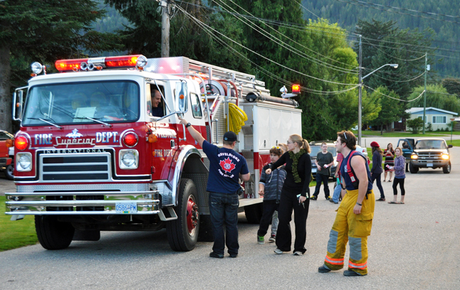 You could easily tell when volunteers from the food drive were in your neighbourhood 'cause the fire rucks, ambulances and police cars that were taking part would let off a blast from their hors or sirens! David F. Rooney photo