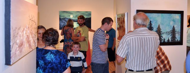 If you always wanted to experience the kind of epiphany available through fine art then don't miss the latest offerings from Keisha Treber and Robin Wiltse at the Revelstoke Art Gallery which opened with their new shows on Friday, September 13. David F. Rooney photo