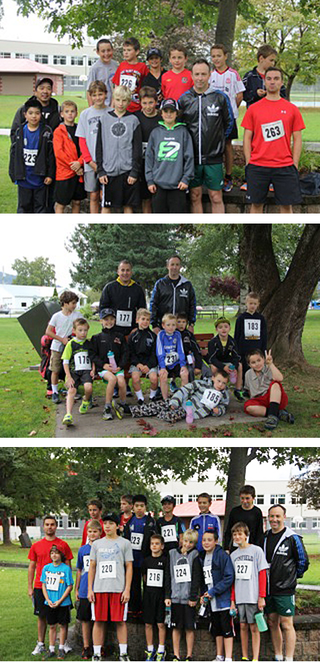 Members of the Novice and PeeWee Rep hockey teams came together to run for their teams and community spirit. Alex Farrugia photos