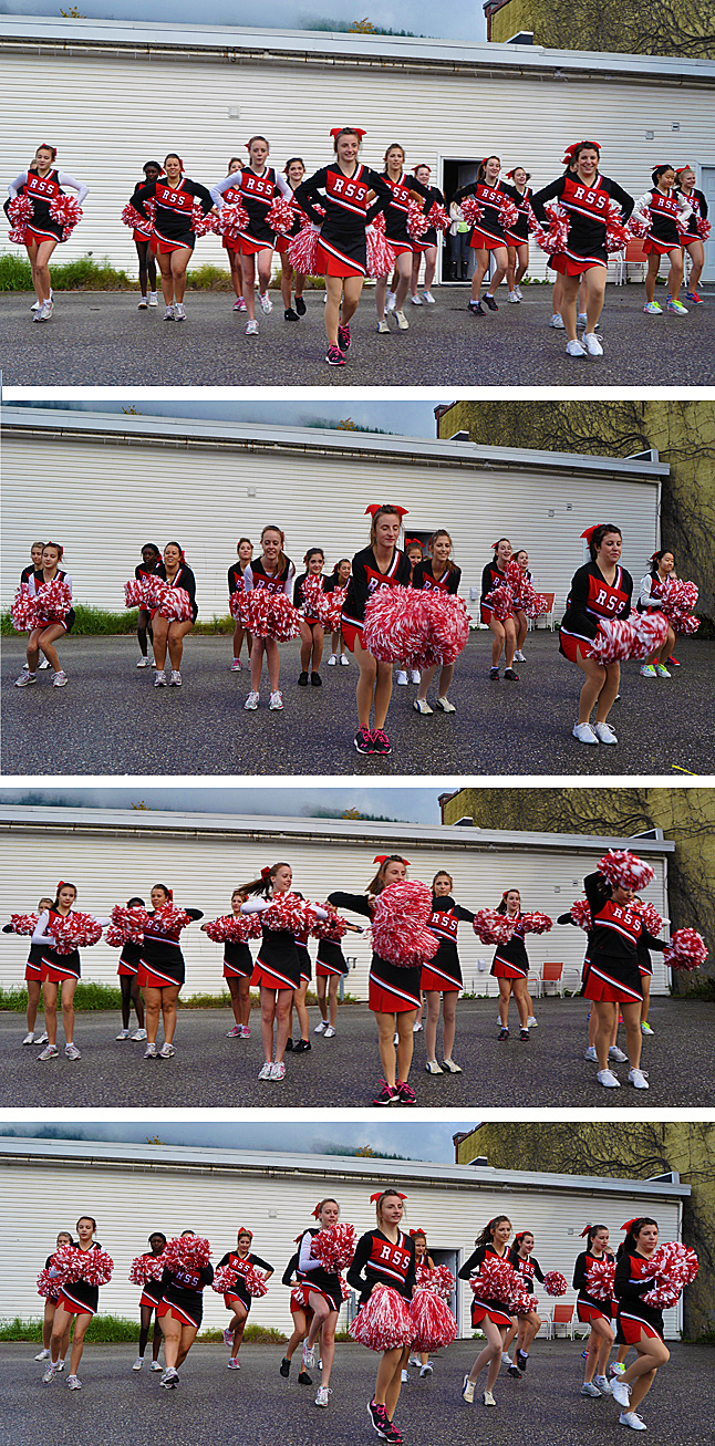 These teen-aged girls from RSS demonstrated their cheer-leading skills and even regaled the crowd with credit union-themed chants and cheers. They put on an excellent show.  David F. Rooney photo