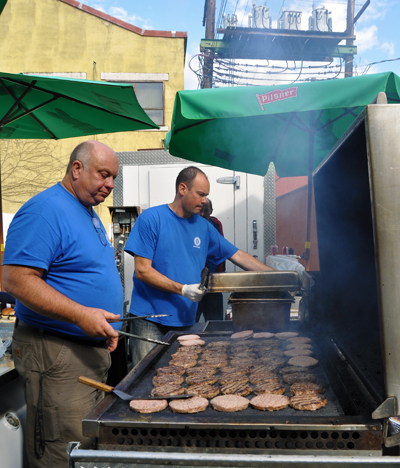 If you were hungry — and a lot of people were — the Master Chefs of the Rotary Club burned burger and hot dogs to sate your appetite.  David F. Rooney photo