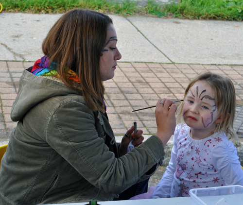 Face painting could be serious business, too.  David F. Rooney photo