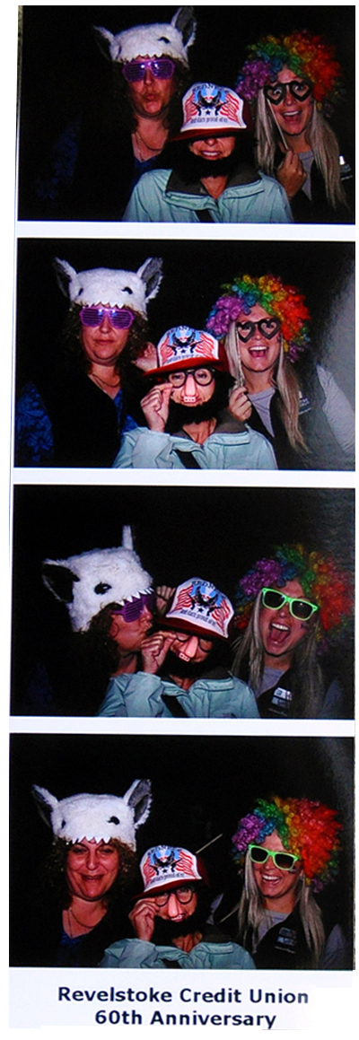 Can you identify the fun-lofing ladies captured on this photo booth photo strip?  David F. Rooney photo