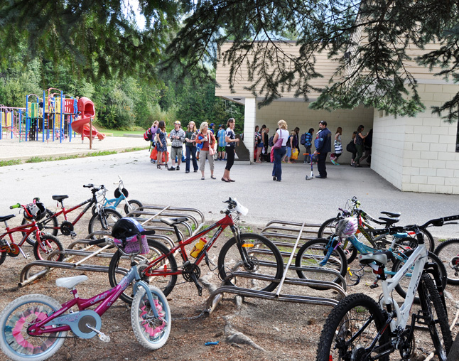 All good things come to an end — and that includes the annual Mug and Muffin. As a last few parents watch, children line up to enter their classrooms at Arrow Heights Elementary School shortly after 10 am on Wednesday. David F. Rooney photo