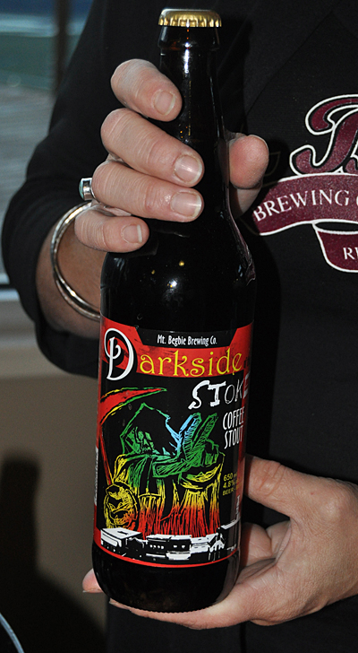 Here's a closeup of the label — And, yes, your eyes aren't deceiving you! — it's a coffee-based stout! By all accounts it's delicious. David F. Rooney photo