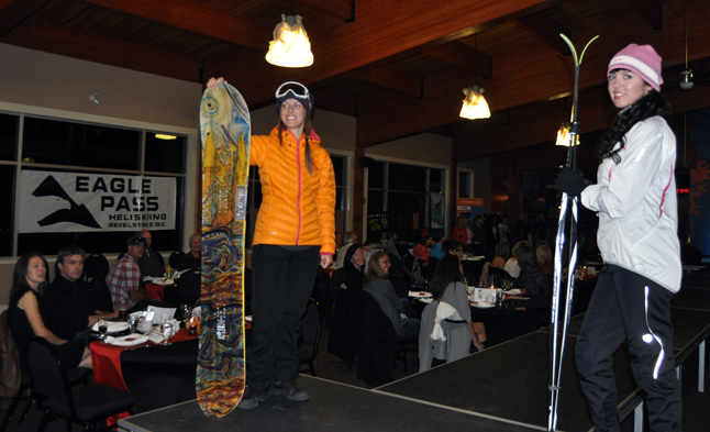 Ashley and Tennille looked pretty good in these skiing and boarding duds from Skookum. David F. Rooney photo
