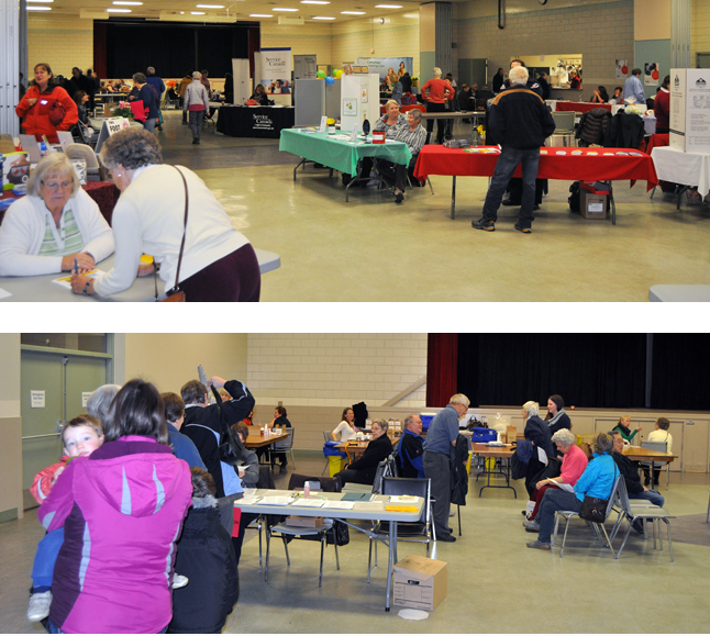 Seniors attended a combination Health Fair and Flu Shot Clinic at the Community Centre on Wednesday. If you want a vaccination and missed this clinic rest assured there will be others in the near future. See the schedule below to find out when and where you need to go. David F. Rooney photo