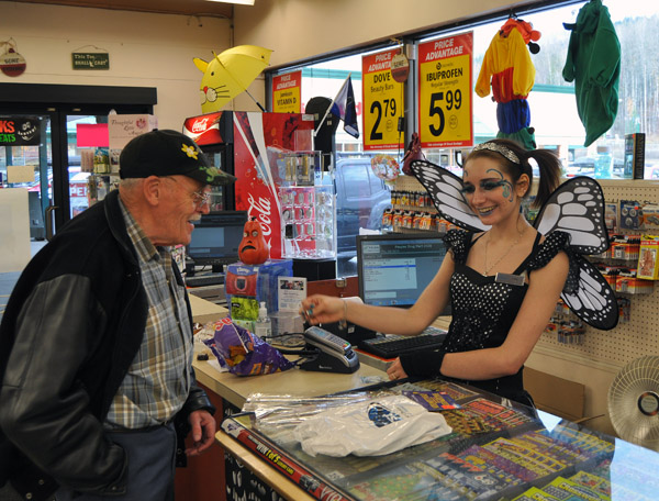 Check out at People's was a delight with Ashly the Fairy managing the till.  David F. Rooney photo