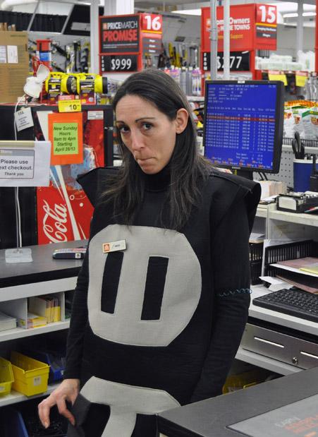 Nikki looks like a tad sad as a wall outlet. Maybe she needs a friendly electrical plug.  David F. Rooney photo