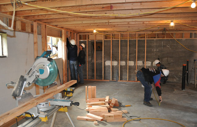 The basement will be finished. David F. Rooney photo