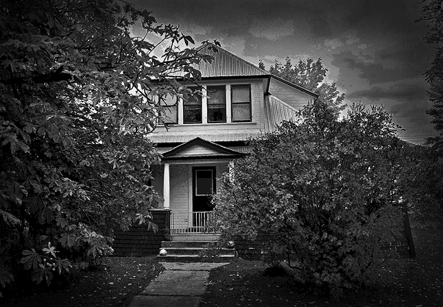 Roger Morrison's brush with the supernatural was here at the old Lundell House on Fifth Street. John Morrison photo