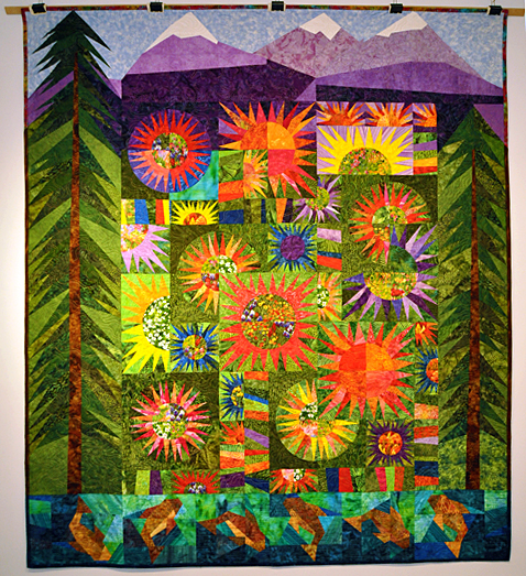 Sisters Scape Pieced by Jill Leslie Quilted by Linda Walford Designed by Valori Wells