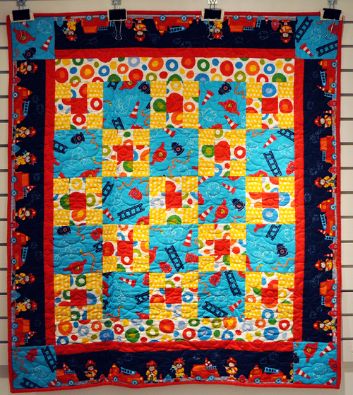 To The Rescue Pieced by Linda Walford Quilted by  Designed by