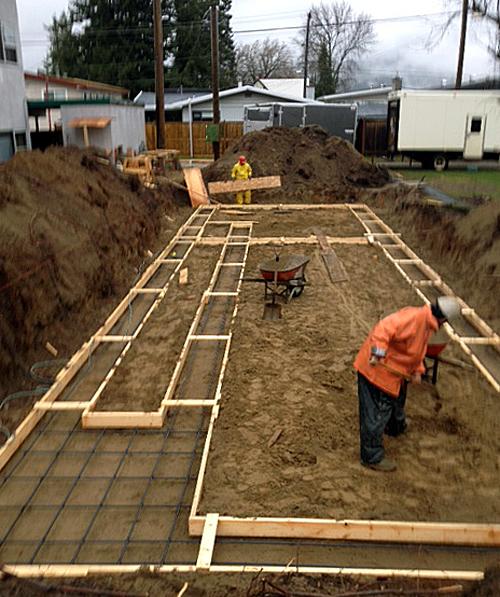Every building needs a foundation. Peter Bernacki photo