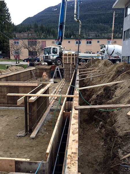 With the foundation's forms in place it was time to call H&J Readimix to pour the concrete. Peter Bernacki photo