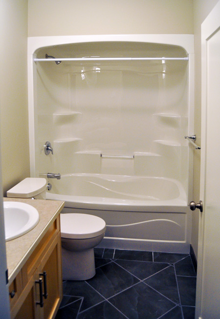 The granny suite bathroom is compact but not cramped. David F. Rooney photo