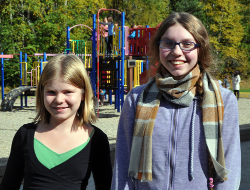 Arrow Heights Elementary School students Amelia Brown and Alice Dunkerson are The Revelstoke Current's two new student reporter-photographers who will keep the community apprised of all the events and happenings at the school. Welcome aboard, girls! David F. Rooney photo