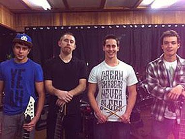 Kade Hansen's new band, Bad Karma, will open for Havok Way's rock opera, Of Harlots and Harlequin. Photo courtesy of Kade Hansen