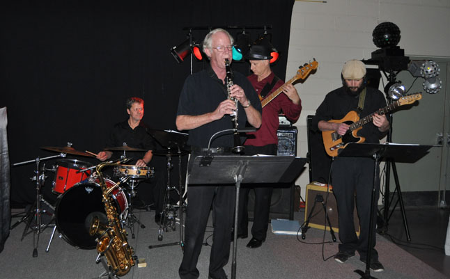Four out of five members of the Bob Rogers Quintet played at the Chamber of Commerce's annual Business Excellence Awards night at the Community Centre on Saturday evening. 275 people attended this evening of dining, dancing and applauding the best businesses in town. David F. Rooney photo