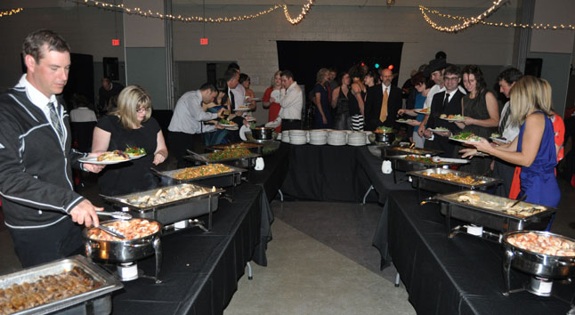 People had nothing but great things to say about the dinner, which was catered by La Baguette.  David F. Rooney photo