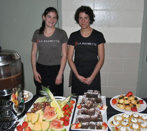 The desserts, which included a tasty selection of Italian gelato was mouth-waterinbg. David F. Rooney photo