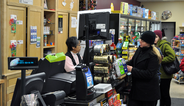 Malone's was busy, too, as people popped by to purchase snacks and — of course — lottery tickets! David F. Rooney photo