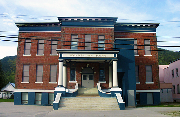 Revelstoke's historic Mountain View School building has been sold and will become home to a high-end distillery and a new medical clinic. Photo courtesy of School District 19