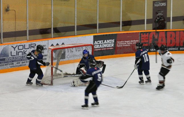 Revelstoke Minor Hockey's Pee Wee Grizzlies had a fantastic tournament this past weekend. Here is goal Number Five, scored by Rory Christie Hoyle, in their finals match against the Lake Bonavista Breakers from Calgary. David F. Rooney photo