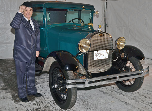 George Hopkins Sr. poses with his pride and joy — his meticulously restored 1928 Model A Ford. Jesse Holdener photo