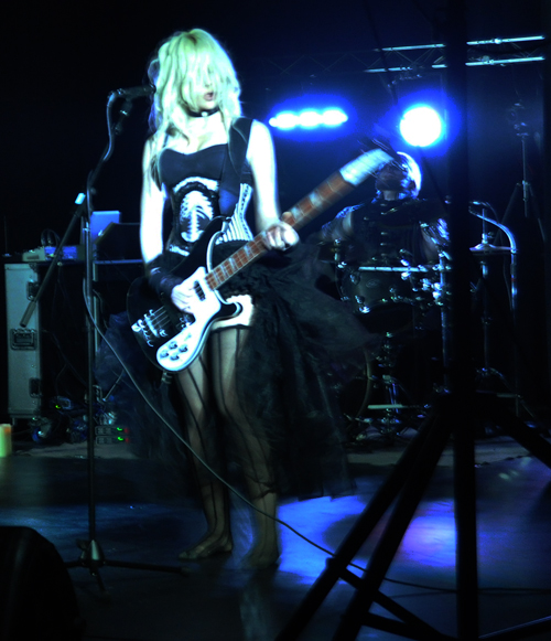Katrina Thompson plays bass guitar — her instrument of choice. David F. Rooney photo
