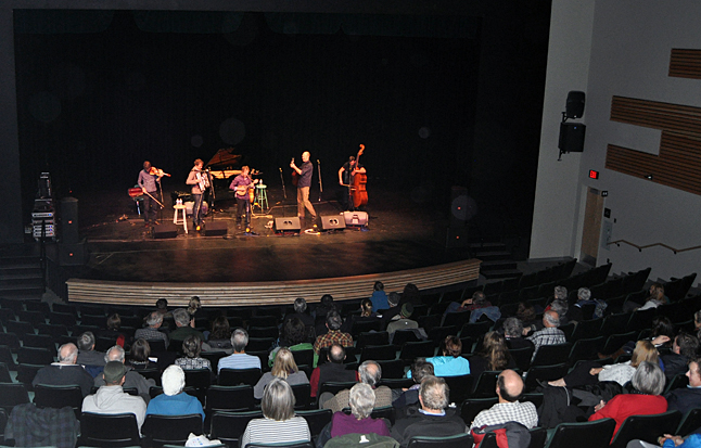 The Revelstoke Performing Arts Centre reverberated to the sound of The Bills on Thursday, November 14. The  Bills are an acoustic roots music powerhouse. Blending exquisite songcraft, instrumental virtuosity, sublime vocals and an unpretentious good-time energy, They delivered all of that and more to their Revelstok audience. David F. Rooney photo