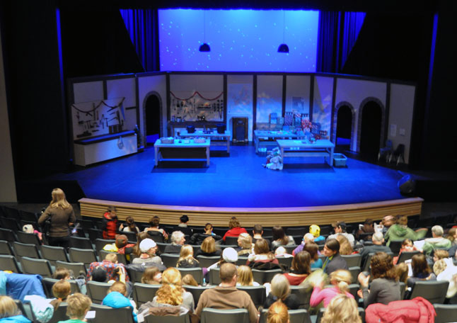 The Sunday afternoon matinee for the Revelstoke Theatre Company's performance of Dear Santa was very well attended with bums in about three quarters of the Performing Arts Centre's 265 seats. David F. Rooney photo