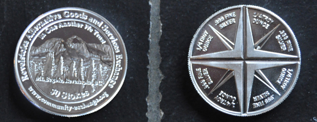 """Troubled by our national society's focus on dollars and cents? Ever wish there was a viable alternative? If your answer to both those questions is an unequivocal """"yes,"""" then you may want to investigate the Revelstoke Alternative Goods and Services Exchange (RAGSE) and its brand-new 'community coins.' Revelstoke Current image"""