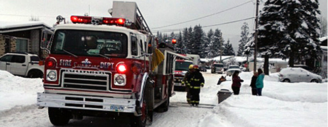 As we enter the Christmas period, Fire Chief Rob Girard is cautioning Revelstokians to be particularly fire-conscious; in just the past seven days there have already been three house fires. Photo courtesy of the Revelstoke Fire Rescue Service