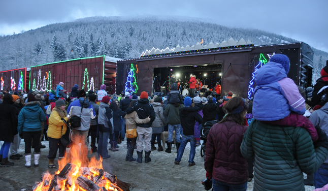 With entertainment from Melanie Doane with special guests Doc Walker, the Brothers Dube, Crystal Shawanda, Jim Cuddy, and Matt Dusk all you needed was a bonfire to keep you warm when the annual CP Rail Holiday Train rolled into  town at about 3:30 pm on Friday, December 13. David F. Rooney photo
