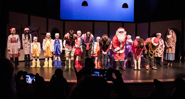 At Dear Santa's end, the cast bowed to a hearty round of applause from their audience. It was a great show and story, one that will hopefully be reprised next year. If you missed it this year, be sure to come next year. In fact, keep your eyes peeled for the Revelstoke Theatre Company's next play, which is sure to be a good night out. Jason Portras photo