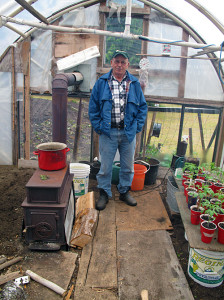 Manuel Amaral in his greenhouse. Laura Stovel photo