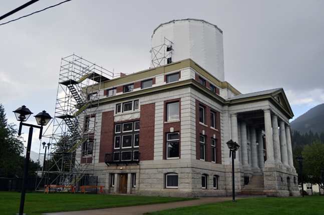 Then, last spring, workers discovered that the there was so much lead paint on the roof that the repair job originally estimated to cost $200,000 suddenly ballooned to $375,000. For that amount of money the City might well have afforded a completely copper roof. Revelstoke Current file photo