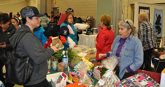 The Revelstoke and District Humane Society tables did a brisk business in gifts and treats for pets... and people, too! David F. Rooney photo