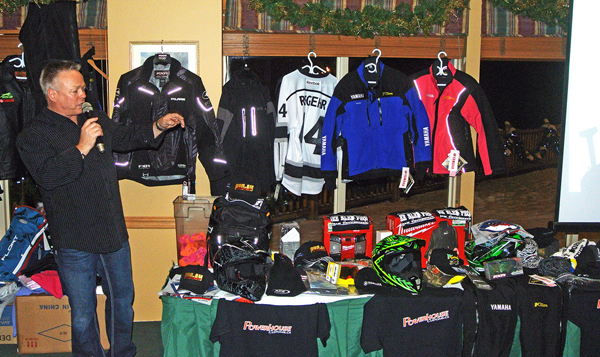 There's was lots of swag being auctioined at the party. The money raised went to support the Avalanche Centre's programs, the Community Connections Food Bank and the Caribou Maternity Penning Project. Dusty Weideman photo