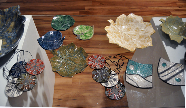 Christmas Tree Ornaments and Dishes By Cat Mater Ceramic 2013