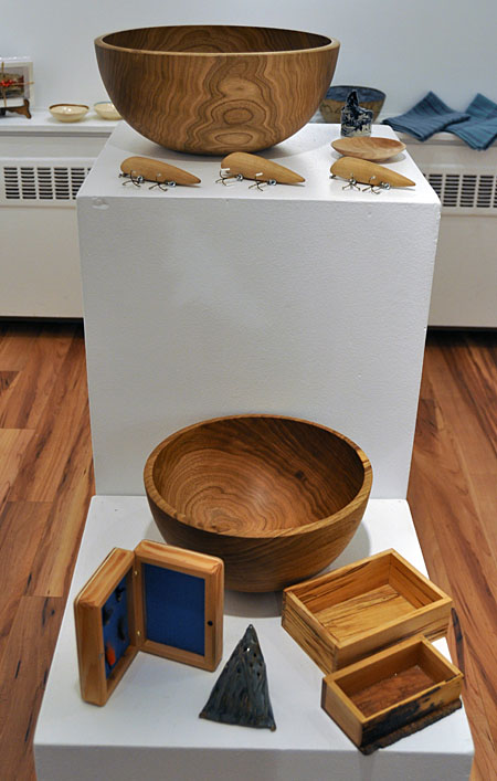 Hand-turned Bowls By Corin Flood Handmade Fishing Lures and Boxes By Ken Talbot